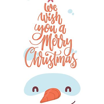 We wish you a merry christmas Snowman  by spoll