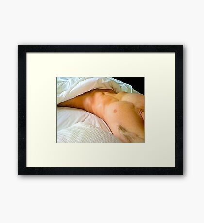 saturday morning - her viewpoint Framed Print