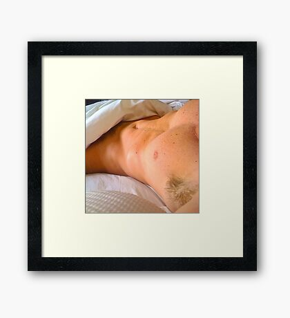 saturday morning - from her pillow Framed Print