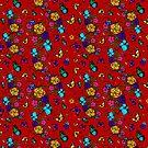 Red Flowerfield by bettinadreier75