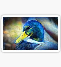 Starry Duck Oil Painting Sticker