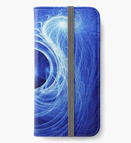 Abstract Full Moon Waves iPhone Wallet