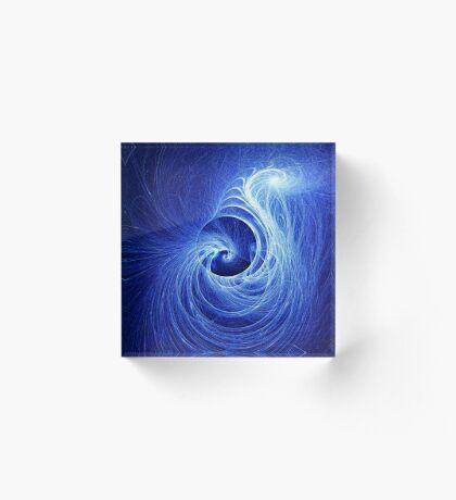 Abstract Full Moon Waves Acrylic Block