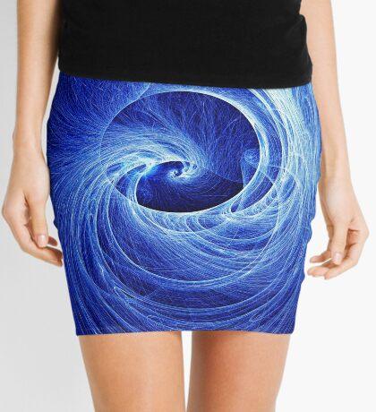 Abstract Full Moon Waves Mini Skirt