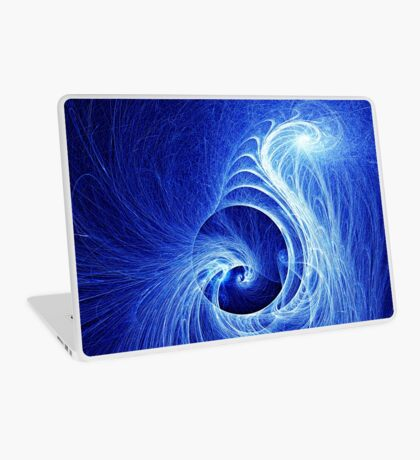 Abstract Full Moon Waves Laptop Skin