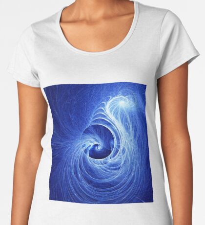 Abstract Full Moon Waves Premium Scoop T-Shirt