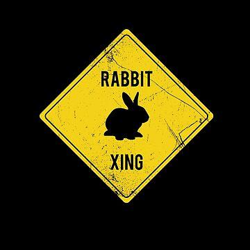 Rabbit Xing by BlueRockDesigns