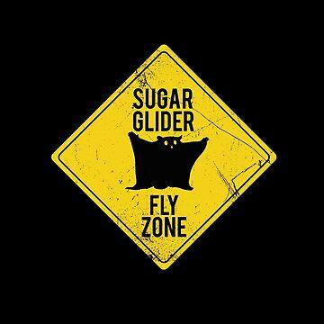 Sugar Glider Fly Zone by BlueRockDesigns