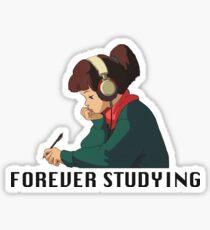Forever Studying Sticker