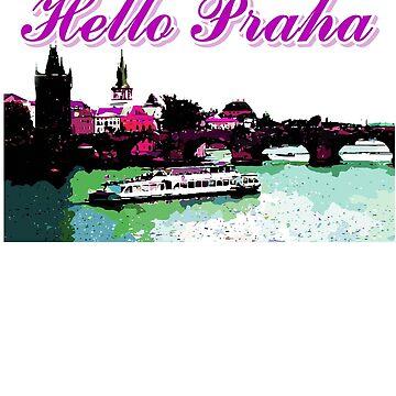 Beautiful praha castle& bridge art by cheeckymonkey