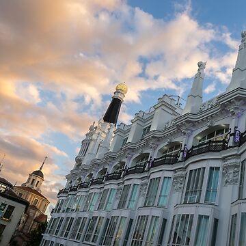 Gallivanting Around Madrid is a Pure Delight - Plaza de Santa Ana Colourful Dusk by GeorgiaM