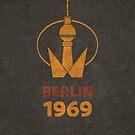 Berlin TV Tower 1969 von Black Sign Artwork