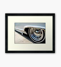 Hubcap Reflections Framed Print
