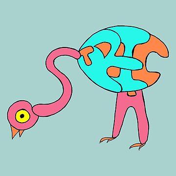 Ostrich by missmoneypenny