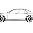 Rover 75 Classic Car Outline Artwork  by RJWautographics