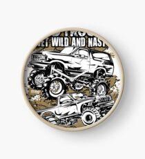 Mega Mud Trucks Wet Wild Clock