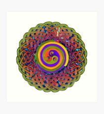 Spirals - Celtic Mandala Art Print