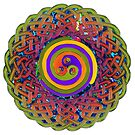 Spirals - Celtic Mandala by Carrie Dennison
