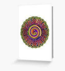 Spirals - Celtic Mandala Greeting Card