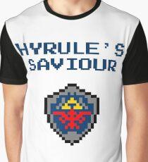 Saviour of The Realm - 8 Bit Zelda Art Graphic T-Shirt