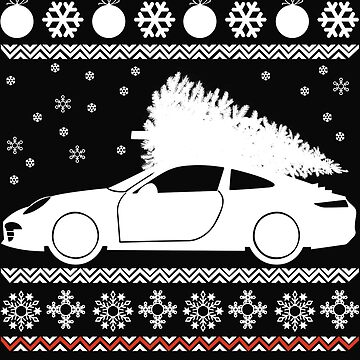 christmas tree and car by dtino