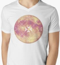 Pink moon T-shirt col V homme