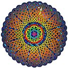 Flower of Life Celtic Mandala by Carrie Dennison