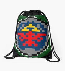 8bit Zelda Shield Drawstring Bag