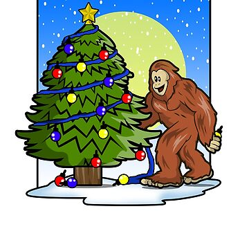 Big Foot Sasquatch Monster Funny Christmas Shirt  by Ducky1000