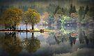 Loch Ard Autumn texture by David Mould