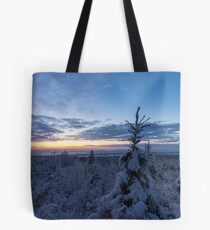Snow covered landscape Tote Bag