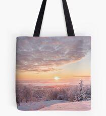 Misty winter morning Tote Bag