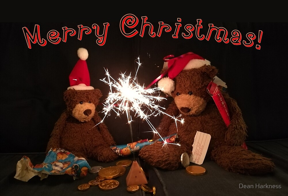 Merry Christmas with bears by Dean Harkness