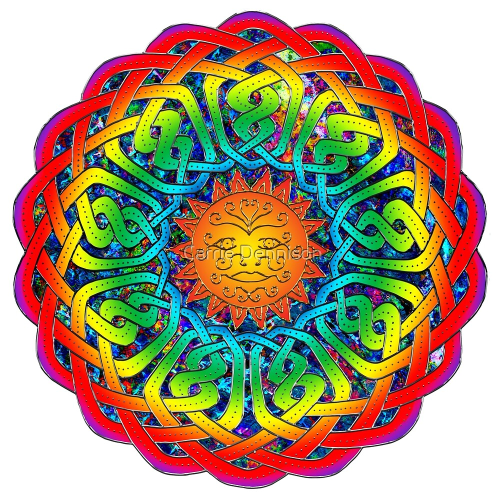 Sun Celtic Mandala by Carrie Dennison