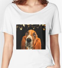 A Basset Hound. (Painting.) Women's Relaxed Fit T-Shirt