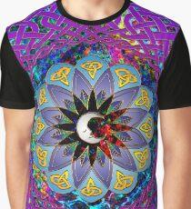 Man in the Moon Celtic Mandala Graphic T-Shirt