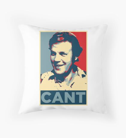 YES WE CANT: Barack Obama styled poster Throw Pillow