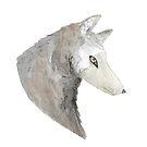 Grey Wolf in Watercolor by WildernessStore