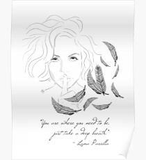 Lana Parrilla with quote Poster