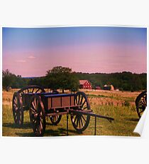 Caisson Wagon Gettysburg Poster