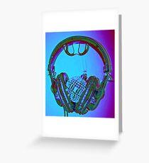 """mirrorball headphones"" Greeting Card"