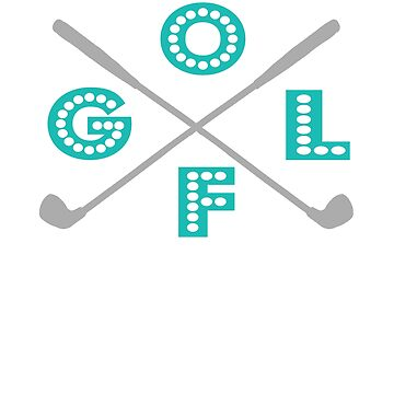 Funny Golf four letter word Gift Design by LGamble12345