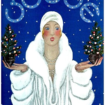 VOGUE : Vintage 1929 Christmas Edition Advertising Print by posterbobs