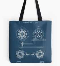 ELECTRICAL TRANSMISSION OF POWER blueprint Tote Bag