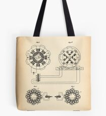 ELECTRICAL TRANSMISSION OF POWER vintage patent Tote Bag