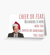 Dwight Christmas Card/Sticker. Pennsylvania Dutch Christmas. The Office US, meme greeting cards Greeting Card