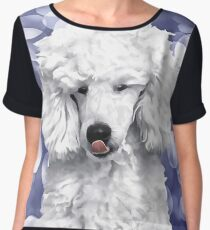 A Poodle. (Painting.) Chiffon Top