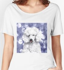 A Poodle. (Painting.) Women's Relaxed Fit T-Shirt
