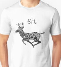 OH Deer funny catchy phrase Unisex T-Shirt