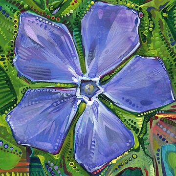 Periwinkle painting - 2018 by gwennpaints